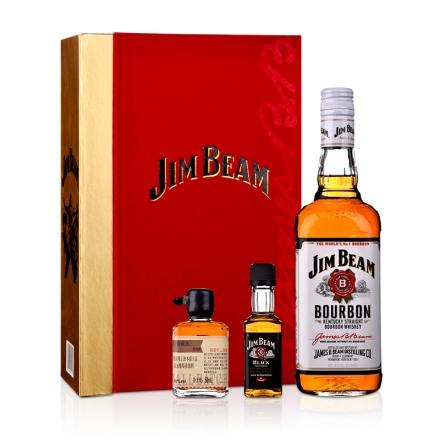 《【 酒仙网自营 】40°美国白占边波本威士忌 礼盒 ¥110.00》
