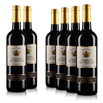 《【 酒仙网自营 】法国查尔斯红葡萄酒(6瓶装) ¥135.00》