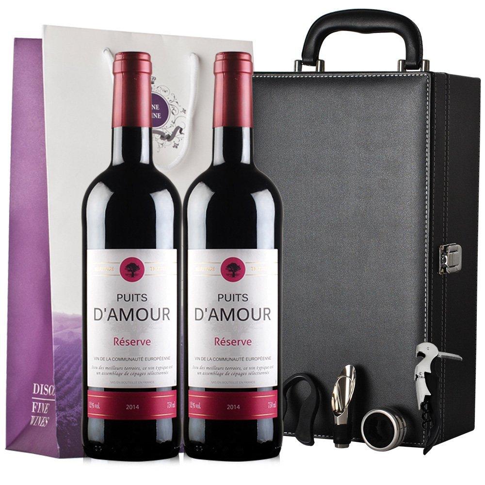 《【 顺丰优选 】心醉红葡萄酒 黑皮盒礼盒装*2 ¥118.00》