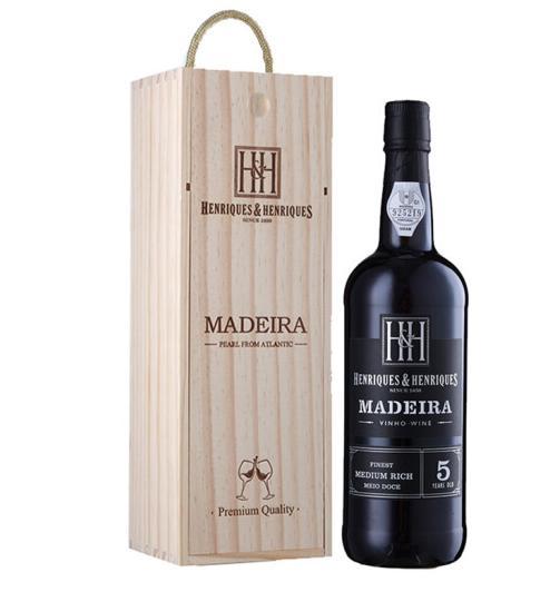《【京东自营】葡萄牙亨瑞克 珍藏米姆里奇马德拉葡萄酒 5年 101.1元(双重优惠)》