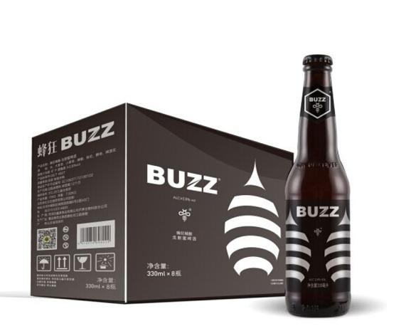 《【京东自营】蜂狂啤酒 龙眼蜜水果精酿拉格啤酒 330ml*8瓶 33.01元(双重优惠)》