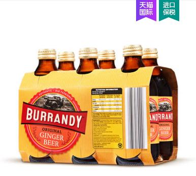 《【天猫国际】ALDI奥乐齐 Burrandy澳洲进口姜汁啤酒375ml*6 88会员35.47元(双重优惠)》