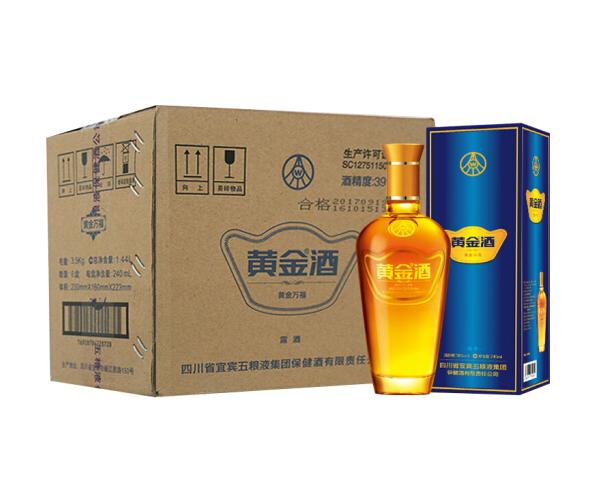 《【京东自营】五粮液 黄金酒 39度 240ml*6 106.9元(双重优惠)》