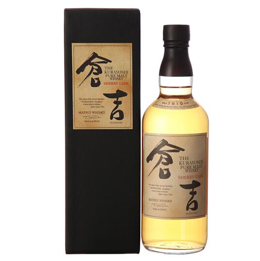 《【京东自营】仓吉 (KURAYOSHI )日本 雪莉桶纯麦威士忌 700ml 520.1元(双重优惠)》