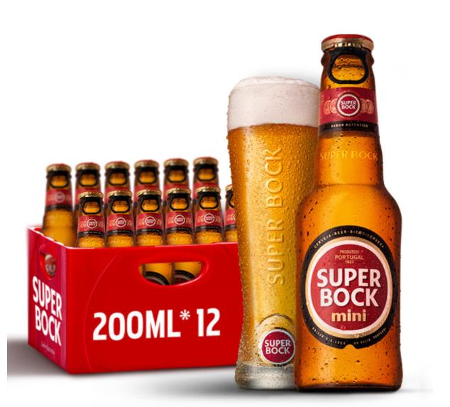 《【苏宁自营】超级波克SuperBock 200ml*12瓶 29.7元(2件3折)》