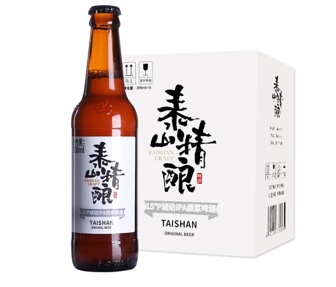 《【京东自营】泰山啤酒15度琥珀IPA300mL*6 62.3元(双重优惠)》