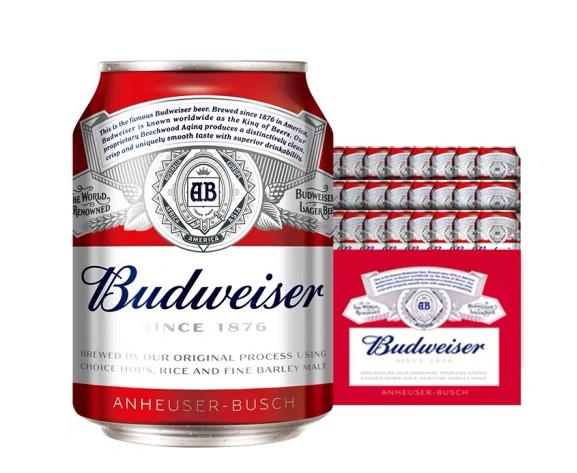 《【京东自营】百威啤酒 迷你装 255ml*24听 69元(需用券)》