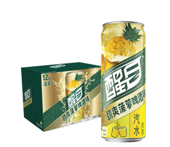《【京东自营】醒目Smart 菠萝啤 酒味汽水 330ml*12听 18.45元(2件5折)》