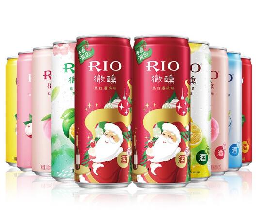《【京东】RIO锐澳微醺 热红酒风味 鸡尾酒330ml*10罐(八种口味) 45.4元(双重优惠)》