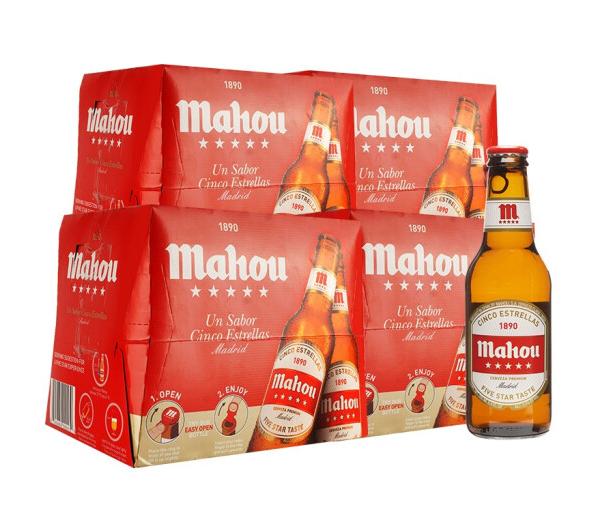 《【京东】西班牙 马傲(mahou)拉格啤酒 250ml*24瓶 128元(双重优惠)》